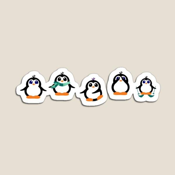 Cute Penguin Fun Cartoon Group Magnet