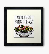 Simpsons Salad Framed Print