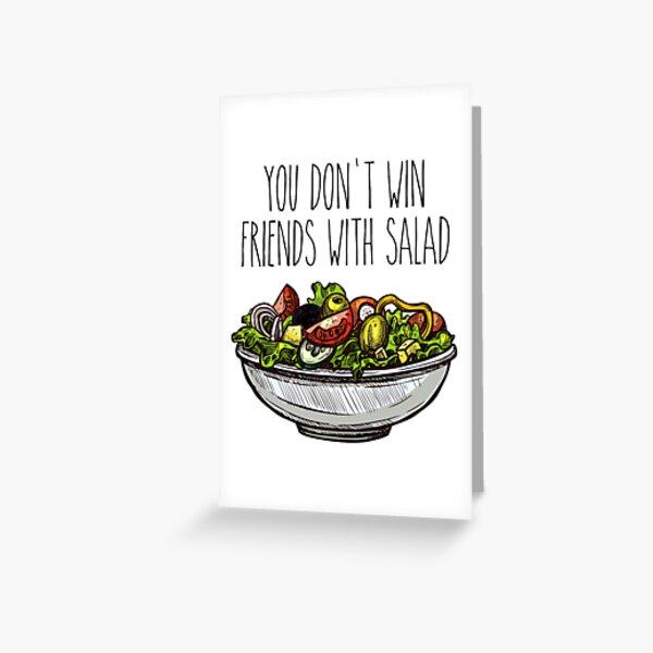Simpsons Salad Greeting Card