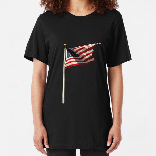 American Flag Slim Fit T-Shirt