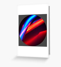 Neon Super Greeting Card