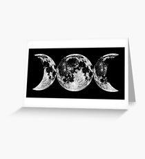 Triple Moon Goddess Symbol Greeting Card