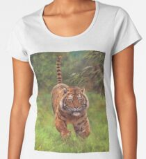 Tiger Charge Women's Premium T-Shirt