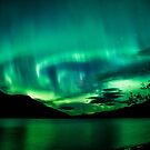 Muncho Lake Auroras by peaceofthenorth