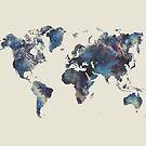 world map 124 blue  #worldmap #map  by JBJart