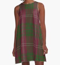 00030 Crawford Clan Tartan A-Line Dress