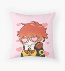 mystic messenger: 707 emoticon (+ larger design) Throw Pillow
