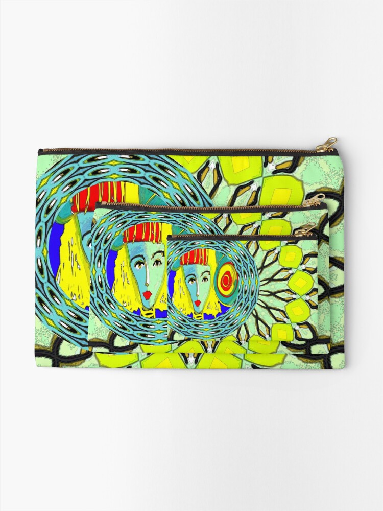 Alternate view of Lady in Green Zipper Pouch