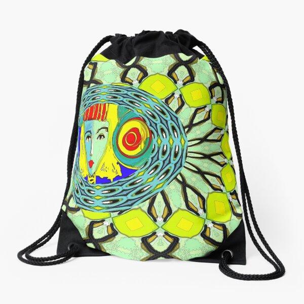 Lady in Green Drawstring Bag