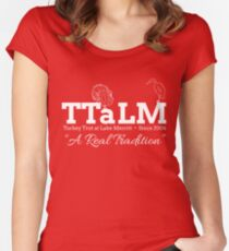 TTaLM - White Text Women's Fitted Scoop T-Shirt