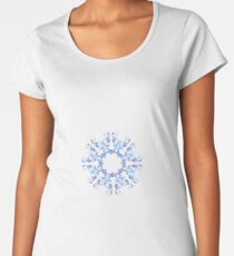 baroque style blue  element Women's Premium T-Shirt