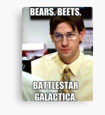 Bear, Beets    BattleStar Galactica Canvas Print