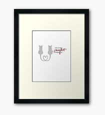 Purrfect Companion Framed Print