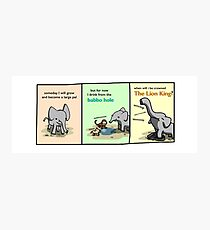 Babbo Elephant - Tiny Snek Comics Photographic Print