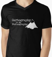 Cartography is my Pornography Men's V-Neck T-Shirt