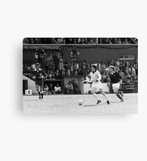 Retro Soccer 7 - old time TV Canvas Print