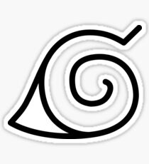 Japanese leaf village Konoho symbol Sticker