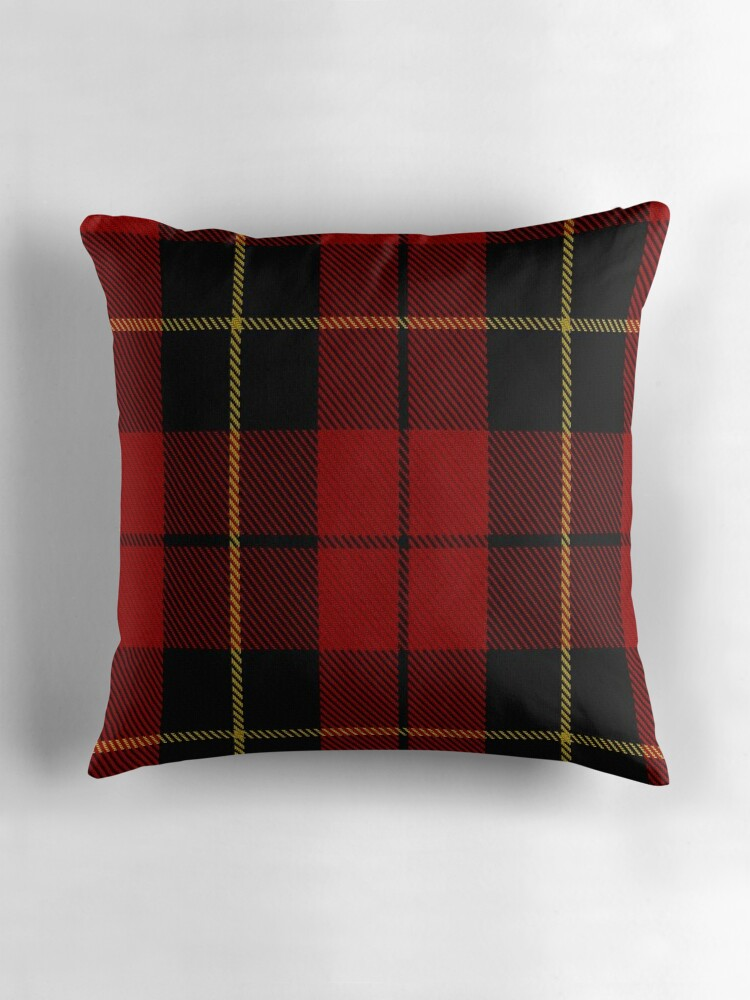Quot 00026 Wallace Clan Family Tartan Quot Throw Pillows By