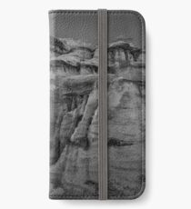 Bisti Badlands in Black and White iPhone Wallet/Case/Skin