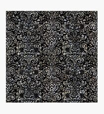DAMASK2 BLACK MARBLE & GRAY STONE Photographic Print