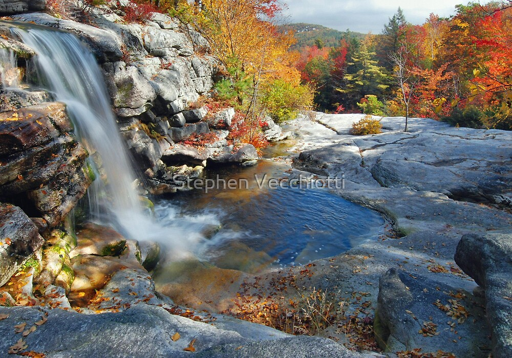 Spencer Falls In Autumn by Stephen Vecchiotti