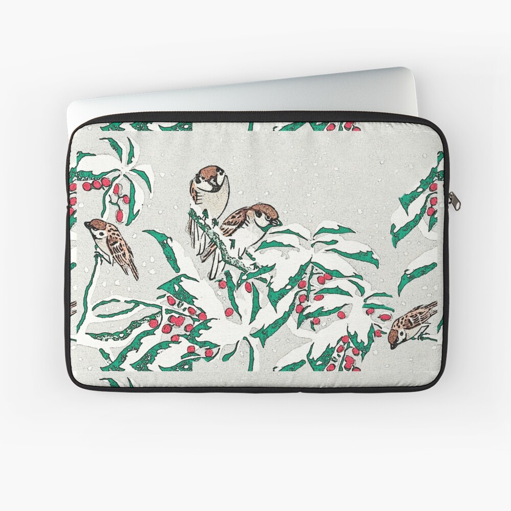 Sparrows in the snow Laptop Sleeve