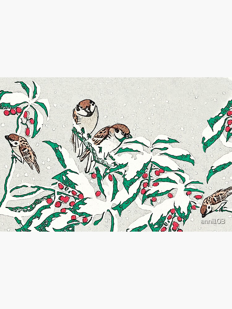 Sparrows in the snow by anni103