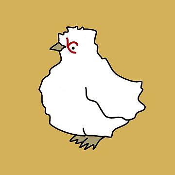 Chicken Pattern / mustard yellow by critterandposie