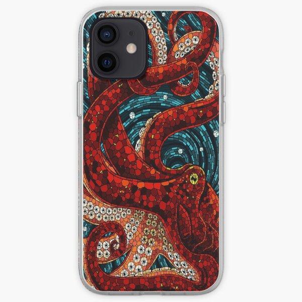 Cute Mosaic Octopus iPhone Soft Case