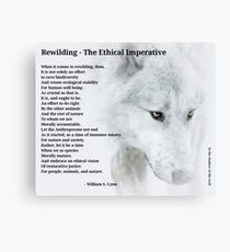 The Ethical Imperative  Canvas Print