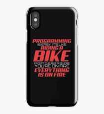 PROGRAMMING IS EASY iPhone Case