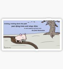Pig Poem - Tiny Snek Comics Sticker