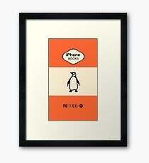 iPhone Book Pinguin Framed Print