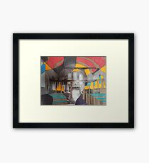 emptiness can be colourful too Framed Print