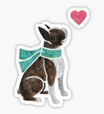 Watercolour Boston Terrier Sticker