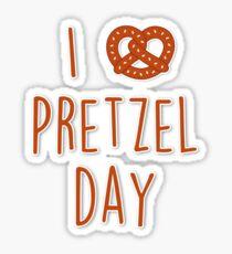I love Pretzel Day Sticker