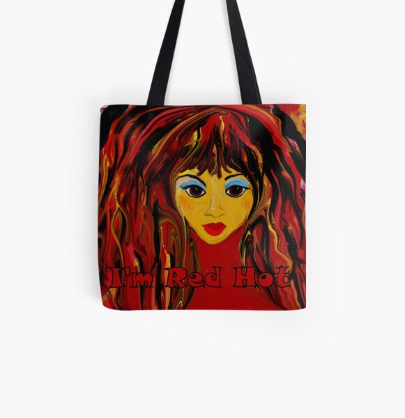 I'm Red Hot! All Over Print Tote Bag