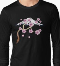 Cherry Blossoms and Mt. Fuji Long Sleeve T-Shirt