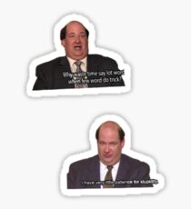 The office - Kevin  Sticker