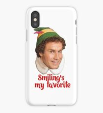 Smiling's my favorite Buddy the Elf Will Ferrell Movie Christmas iPhone Case/Skin