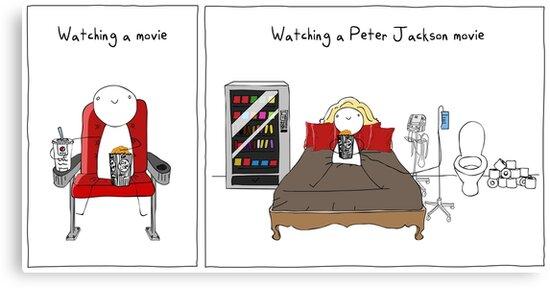 Watching a peter jackson movie by twistedshotgun