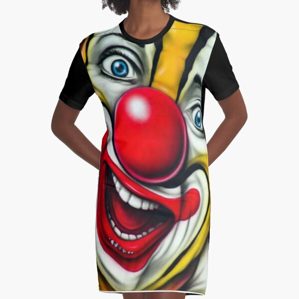 SEND IN THE CLOWNS-4 Graphic T-Shirt Dress