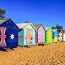 Beach Huts by Trevor Middleton