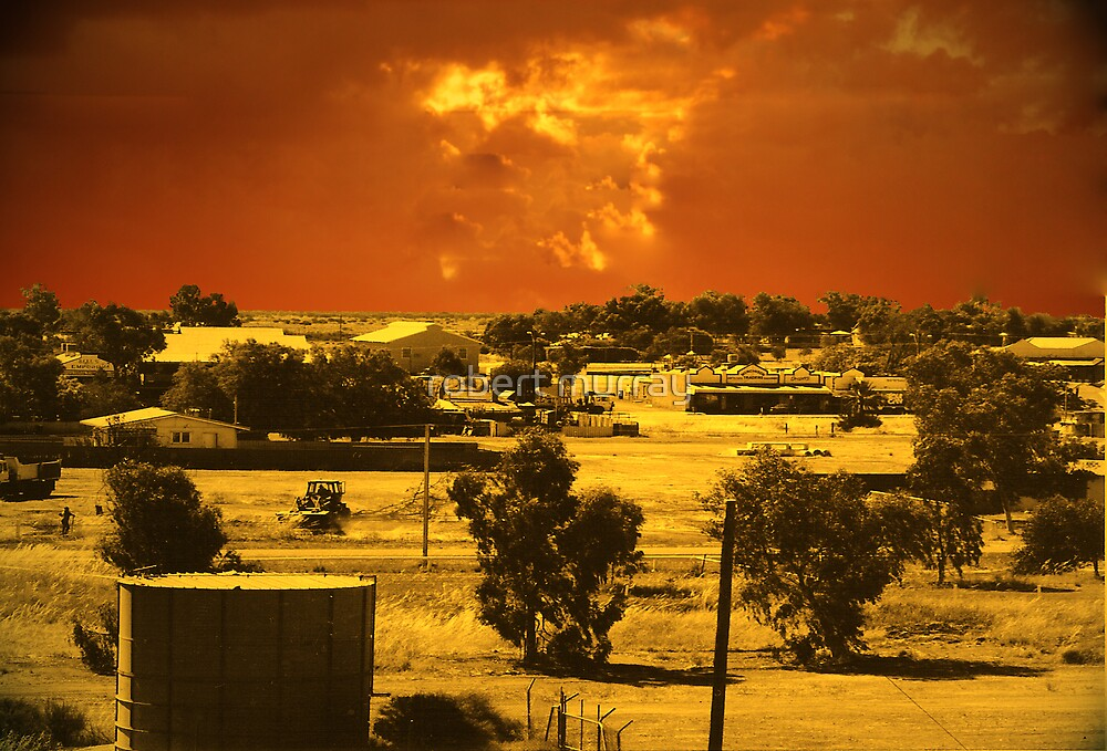 Dust storm approaching Cue by robert murray