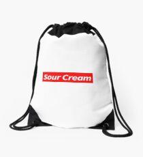 Sour Cream Drawstring Bag
