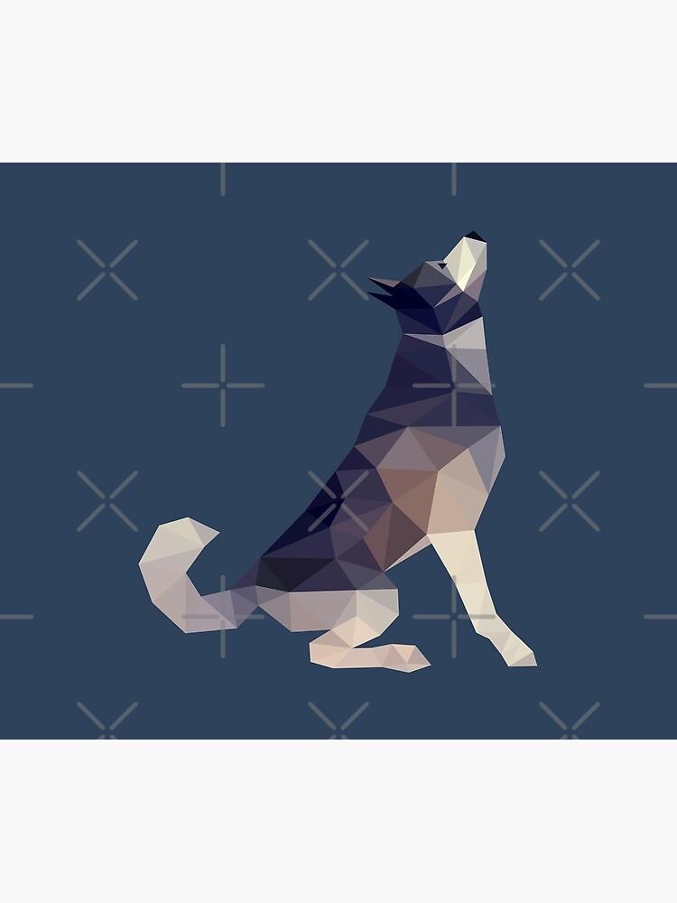 Husky Dog Illustration by yulia-rb