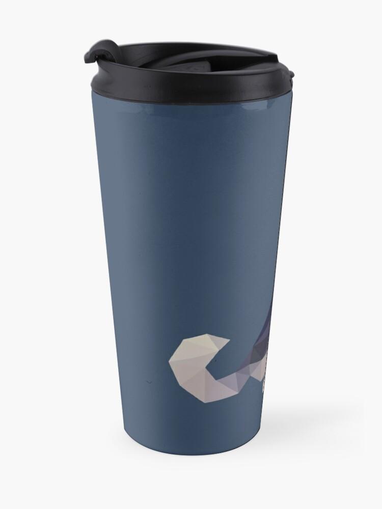 Alternate view of Husky Dog Illustration Travel Mug