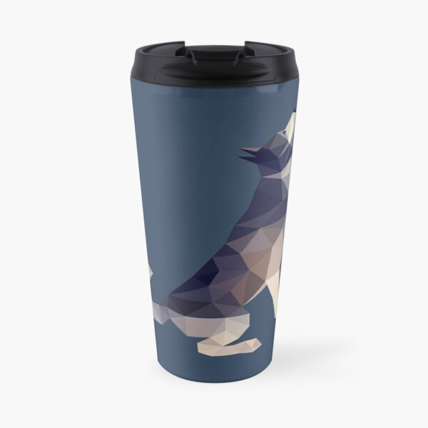 Husky Dog Illustration Travel Mug