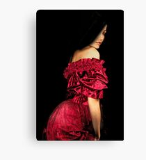 Woman in a Red Dress Canvas Print