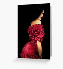 Woman in a Red Dress Greeting Card